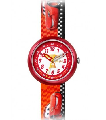 Reloj Flik Flak Diney Cars Lighting McQueen
