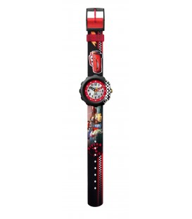 Reloj Flik Flak Disney Car Piston Cup