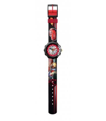 Reloj Flik Flak Disney Car Piston Cup
