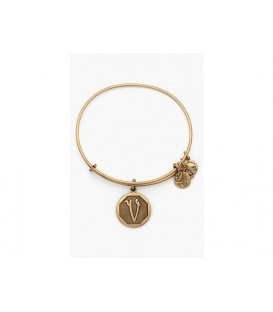 Pulsera Alex and Ani Letra V Oro