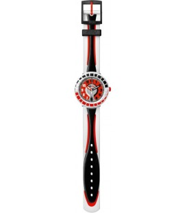 Reloj Flik Flak All Around Black and Red