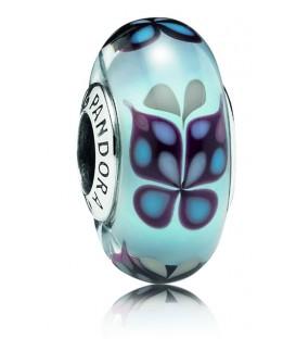 Abalorio Pandora Murano Azul Besos de Mariposa