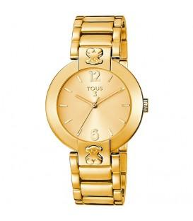 Reloj Tous Plate Round Dorado