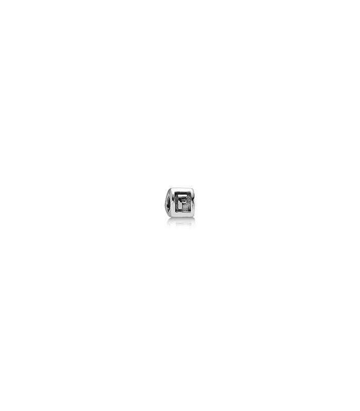 abalorio pandora letra f