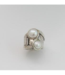 Anillo Styliano perlas