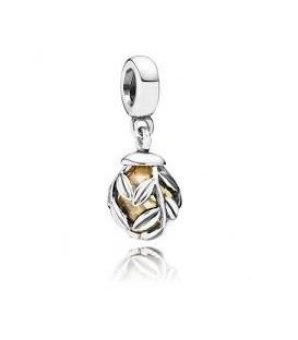Abalorio Pandora Colgante Hoja de Laurel de Oro
