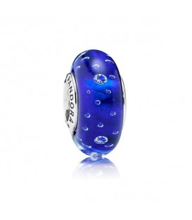 Abalorio Pandora Cristal Murano Efervescencia Azul Oscuro