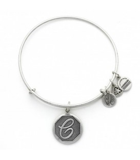Pulsera Alex and Ani Letra C Plateado