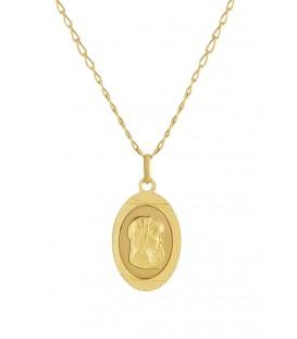 Conjunto de 1ª comuión de medalla y cadena