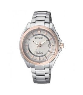 Reloj CITIZEN Eco Drive Ti+Ip con brazalete de Titanio y cristal zafiro
