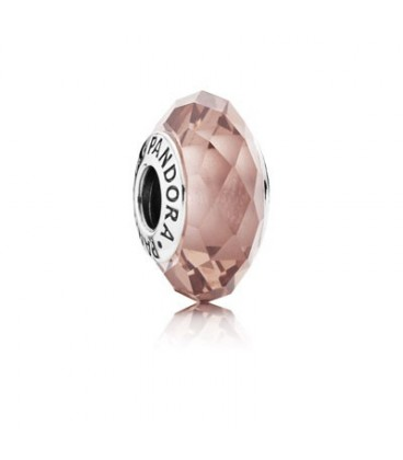Charm facetado rosa
