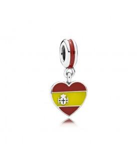 Charm bandera corazón España