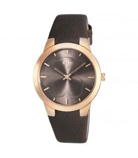 Reloj Tous B-Face rosado y piel chocolate.