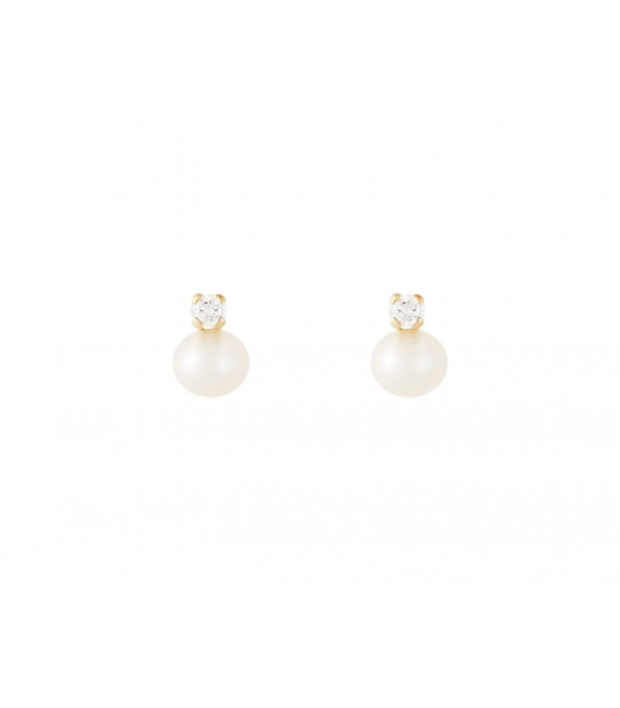 347bc062d1bd Pendientes de bebe perla y circonita