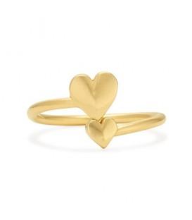 Anillo Alex & Ani corazón romantico dorado
