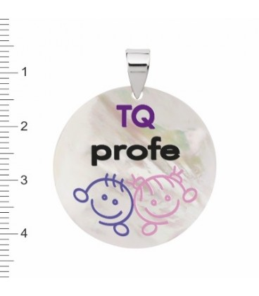 Medalla TQ Profe nacar