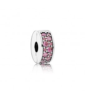 Clip elegancia brillante rosa madreselva