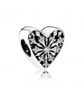 Abalorio Pandora corazón cristalizado