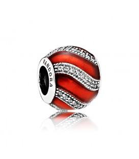 Abalorio Pandora adorno rojo
