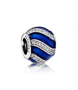 Abalorio Pandora adorno azul