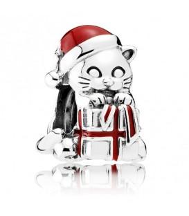 Abalorio Pandora gatito de navidad