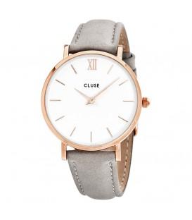 Reloj Cluse Minuit Rose Gold White