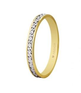 Alianza boda bicolor diamantada