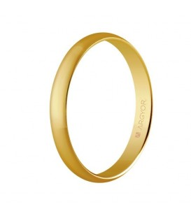 Alianza boda oro clásica