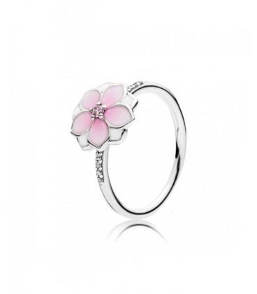 anillo flor rosa pandora
