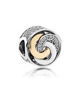 Abalorio Pandora círculos conectados
