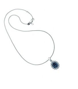 Colgante Diamonfire Flor circonita azul