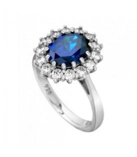 Anillo Diamonfire rosetón azul