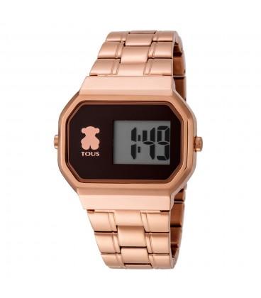 Reloj Tous D-Bear Digital de acero rosado