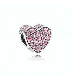Abalorio Pandora Corazón deslumbrante Rosa