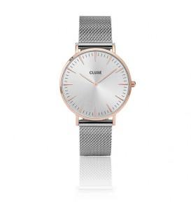 Reloj Cluse La Bohème de malla de oro rosa