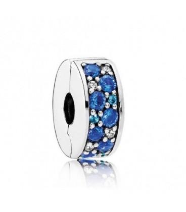 Clip Pandora Brillante Mosaico Azul