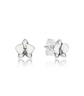 Pendientes Pandora Orquídea blanca