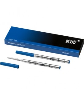 2 BALLPOINT PEN REFILLS MEDIUM AZUL