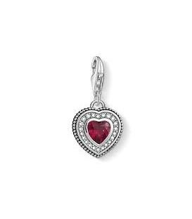 Abalorio Colgante Corazón con piedra Roja