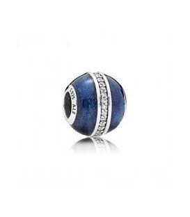 Abalorio Pandora Esfera Azul Medianoche