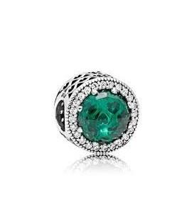 Abalorio Pandora Corazones Radiantes Verde