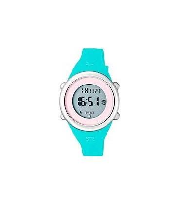 Reloj Soft Digital de acero con correa de silicona menta