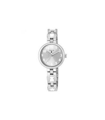 Reloj Tous Bahia de acero con motivos color blanco