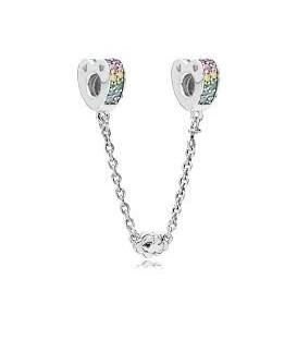 Cadena de seguridad Pandora Arco de Amor Multicolor