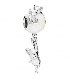 Abalorio Pandora ratita y globo blanco