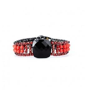 BRAZALETE ARMONIA SMALL BLACK RED