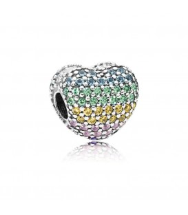 clip Pandora de plata abre mi corazon