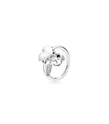 Anillo Pandora en plata de ley Símbolos Espirituales
