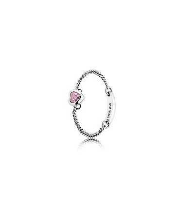 Anillo Pandora Corazón Espiritual rosa