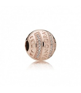 Clip Pandora rosé firma corazones 787433cz